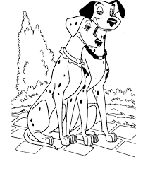 101 Dalmatians Alone Coloring Pages For