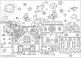 Small Picture Spring Street Colouring Page