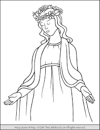 Small Picture Mary Queen of May Crowning Coloring Page The Catholic Kid