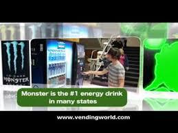 Monster Energy Drink Vending Machine Fascinating Monster Energy Vending Machine Commerical YouTube