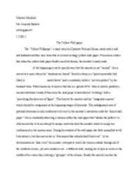 essays written on the yellow   yellow essays and papers 123helpme com