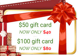 Gift Cards For Christmas Christmas In July Gift Cards