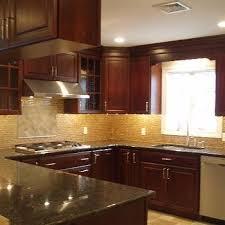 kitchen backsplash cherry cabinets. Unique Cabinets Cherry KItchen Cabinets And Kitchen Backsplash R