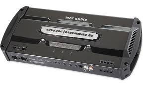 mtx jackhammer jh1200 mono subwoofer amplifier 800 watts rms x 1 mtx jackhammer jh1200 front