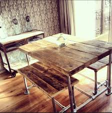 dining room sets co uk. industrial style reclaimed scaffold small dining table and benches - www.reclaimedbespoke.co. room sets co uk