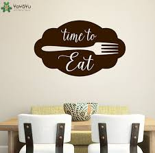 kitchen wall decal quotes time to eat sign vinyl wall sticker farmhouse art mural modern design restaurant diy home decor sy226 in wall stickers from home  on vinyl wall art quotes for kitchen with kitchen wall decal quotes time to eat sign vinyl wall sticker