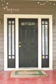 front door colors also painted the sidelight panels a cream color talk about a