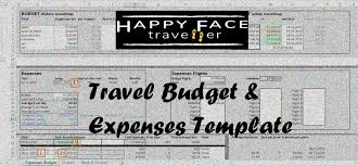 Road Trip Budget Template Travel Budget Expenses Template Happy Face Traveller