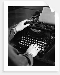 Typing Business Letter 1930s Womans Hands Typing Business Letter At Manual Typewriter
