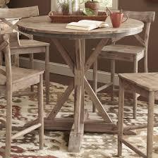 largo callista rustic casual round counter height pedestal table
