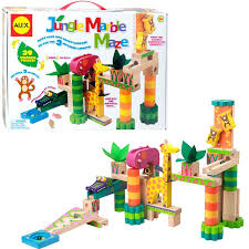 wooden marble run toy jungle marble maze kids marble run wooden marble run toy plans