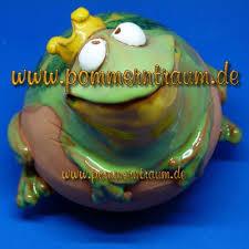 Gartenkugel Rosenkugel Keramik Froschkönig