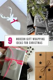 modern gift wrapping ideas for christmas  contemporist
