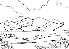 Small Picture Mountains View Landscapes Coloring Pages Bulk Color
