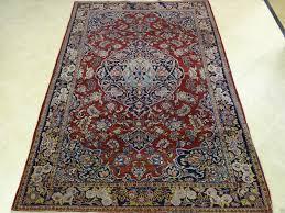 unique colorful antique kashan area rug navy blue