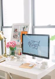 Office Room: Small Pink Workspace - Girl Workspace