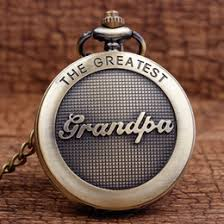 great pocket watches online great pocket watches for whole fashion the greatest grandpa dad father s day quartz pocket fob watches chain mens gift for daddy grandfather