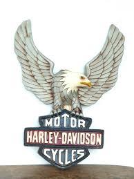 harley davidson copper eagle wall art
