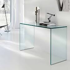 gulliver glass console table by tonelli  klarity  glass furniture