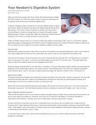 your newborn s digestive system