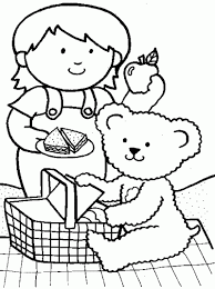 Small Picture Picnic Friends Coloring Page PRINTABLES Freebies Inspirational