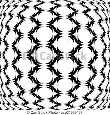 Design Monochrome Warped Grid Geometric Pattern
