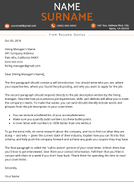 Format Of Cover Letter How To Write A Great Cover Letter Step By Step Resume Genius