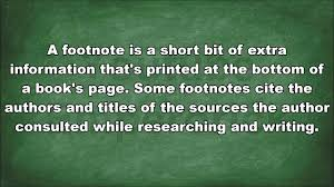 Meaning Of Footnote