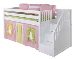 maxtrixonlinecom  low loft bed with stairs (steps)