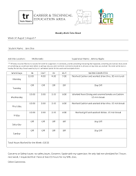 Weekly Work Time Sheet Templates At Allbusinesstemplates