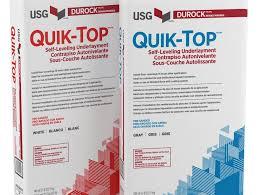 durock brand quik top self leveling underlayment