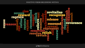 Action Words To Use In A Resume Stunning POSITIVE VERBS THAT START WITH R ACTION WORDS Positive Words