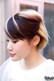 Japan Women Hair Style short japanese hairstyle with pink highlights tokyo fashion news 4810 by wearticles.com