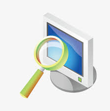 vector magnifying glass computer computer desktop magnifier png and vector