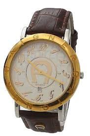 buy aigner gold brown leather men watch shop fashion watches aigner gold brown leather men watch