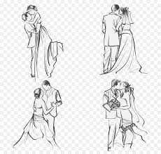 Wedding Invitation Couple Marriage Clip Art Couple Vector Material