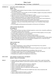 Scheduler Resume Sample Crew Scheduler Resume Samples Velvet Jobs 16