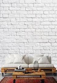 old fashioned wallpaper white bricks