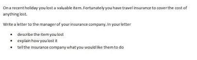 Formal Ielts Letters Task 1 General Training