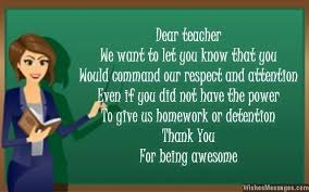Teacher Message Thank You Notes For Teacher Messages And Quotes
