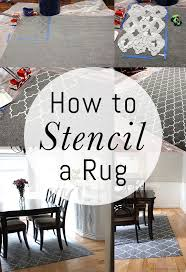 how to stencil a rug on the