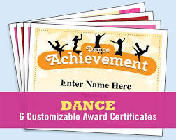 Award Paper Template Magnificent Dance Certificate Pack Dancing Awards Dance Team Printables Etsy