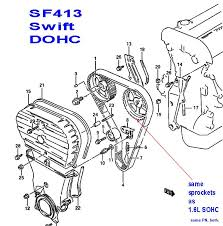 16v fast tbelt swap do not ever use either of the i marks on this g16b 16valve 1 6l sohc motor