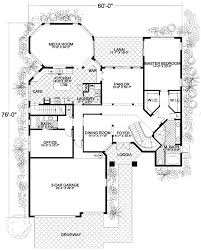 Mediterranean House Plan With Two Stairs  32141AA  Architectural Floor Plans With Stairs