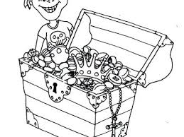 Treasure Chest Pictures To Color Open Treasure Chest Coloring Page