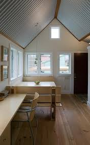 floating guest house with corrugated metal interior tiny blog painted corrugated metal ceiling t89 painted