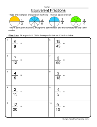 Fraction Worksheets | Have Fun Teaching