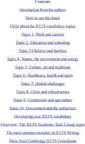 ielts essay topic ielts band vocab secrets the ten essential ielts  ielts band vocab secrets the ten essential ielts vocabulary and sport topic 7 global challenges topic ielts essays pdf