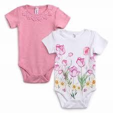 Розовый Боди для девочки 2 шт <b>Playtoday</b> newborn 388808 ...