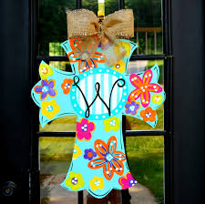 patterns for decorative door hangers with beautiful ribbon ideas